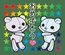 the Purple Teddy Bear. sticker #15848386