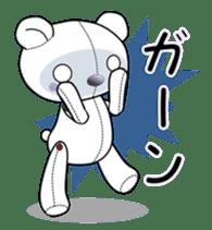 the Purple Teddy Bear. sticker #15848387