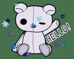 the Purple Teddy Bear. sticker #15848388