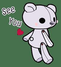 the Purple Teddy Bear. sticker #15848389