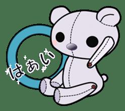 the Purple Teddy Bear. sticker #15848390