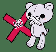 the Purple Teddy Bear. sticker #15848391