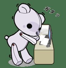 the Purple Teddy Bear. sticker #15848392