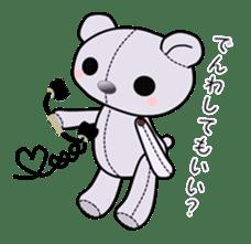 the Purple Teddy Bear. sticker #15848396
