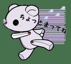 the Purple Teddy Bear. sticker #15848397