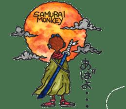 samrai monkey sticker #15853778