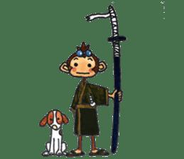 samrai monkey sticker #15853780