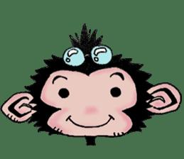 samrai monkey sticker #15853782