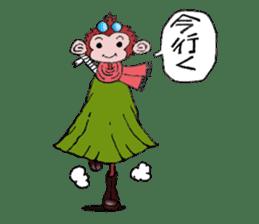 samrai monkey sticker #15853788
