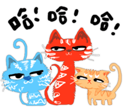 Double Cats sticker #15854168