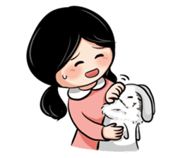 Mary & Rabbito sticker #15856880