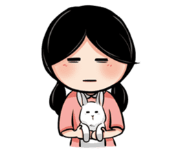 Mary & Rabbito sticker #15856883