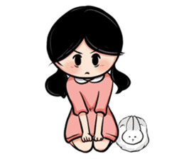 Mary & Rabbito sticker #15856885