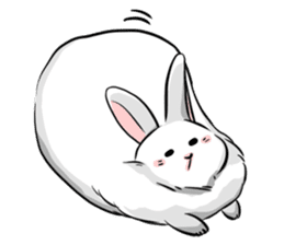 Mary & Rabbito sticker #15856909