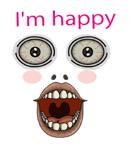 (anime) Happy face English version sticker #15857338