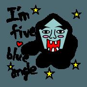 สติ๊กเกอร์ไลน์ Five Angle Baby