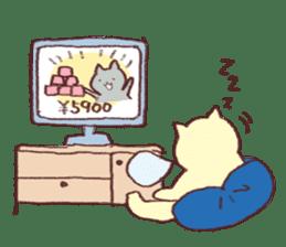 Sleep cat2 sticker #15872712