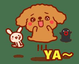 Red Poodle GA-BI sticker #15877714