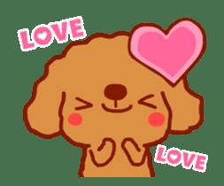 Red Poodle GA-BI sticker #15877715