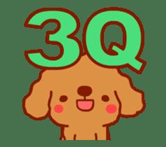 Red Poodle GA-BI sticker #15877717