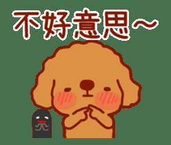 Red Poodle GA-BI sticker #15877718