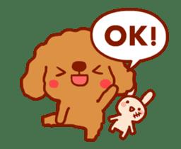 Red Poodle GA-BI sticker #15877721