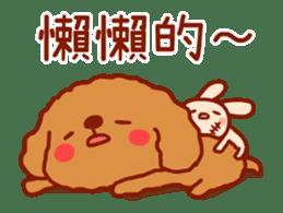 Red Poodle GA-BI sticker #15877723
