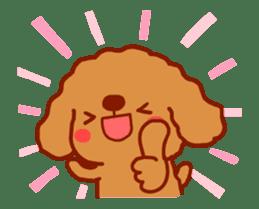 Red Poodle GA-BI sticker #15877724