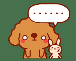 Red Poodle GA-BI sticker #15877729