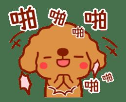 Red Poodle GA-BI sticker #15877730