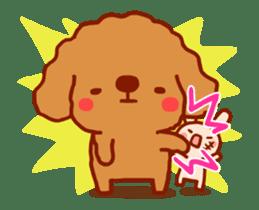 Red Poodle GA-BI sticker #15877731