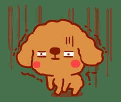 Red Poodle GA-BI sticker #15877733