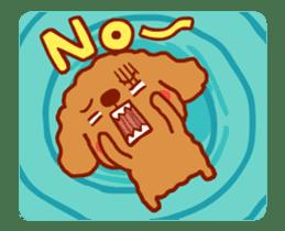 Red Poodle GA-BI sticker #15877734
