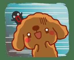 Red Poodle GA-BI sticker #15877736