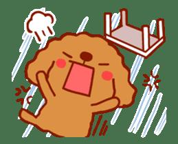 Red Poodle GA-BI sticker #15877737