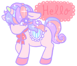 kirakira yumekawaii pastel unicorn. sticker #15879709