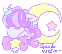 kirakira yumekawaii pastel unicorn. sticker #15879710