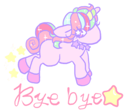 kirakira yumekawaii pastel unicorn. sticker #15879713