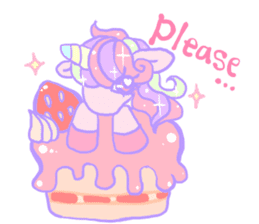 kirakira yumekawaii pastel unicorn. sticker #15879716