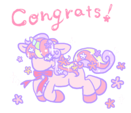 kirakira yumekawaii pastel unicorn. sticker #15879717