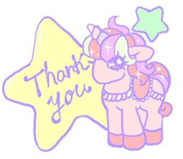 kirakira yumekawaii pastel unicorn. sticker #15879721