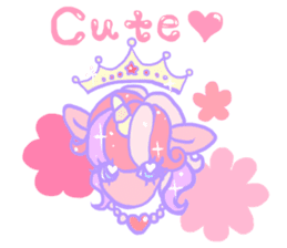 kirakira yumekawaii pastel unicorn. sticker #15879724