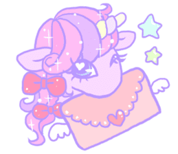 kirakira yumekawaii pastel unicorn. sticker #15879725