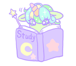 kirakira yumekawaii pastel unicorn. sticker #15879728