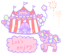 kirakira yumekawaii pastel unicorn. sticker #15879732