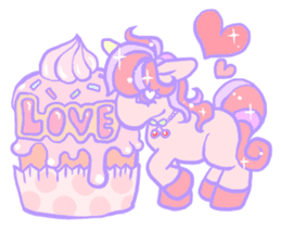 kirakira yumekawaii pastel unicorn. sticker #15879738
