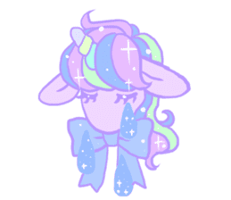 kirakira yumekawaii pastel unicorn. sticker #15879740