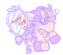 kirakira yumekawaii pastel unicorn. sticker #15879742