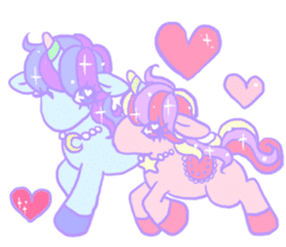 kirakira yumekawaii pastel unicorn. sticker #15879745