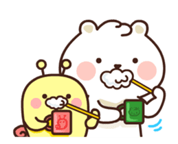 dou wha & mochi (In love) sticker #15883974